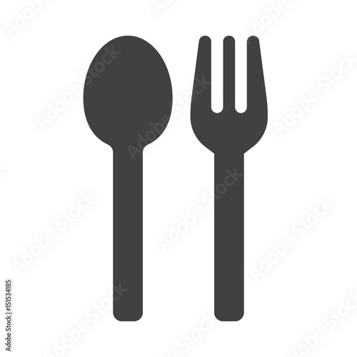 Fototapeta Menu, spoon and fork icon vector, filled flat sign, solid pictogram isolated on white. Symbol, logo illustration obraz