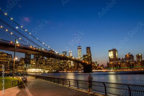 Keuken foto achterwand Stad gebouw Night NYC