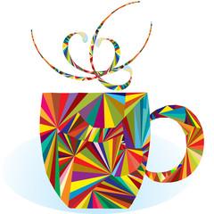 NaklejkaColorful cup logo
