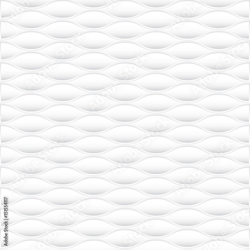 Fotografie, Obraz  White geometric texture. Vector abstract background