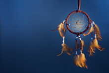 Dreamcatcher On A Color Backgr...