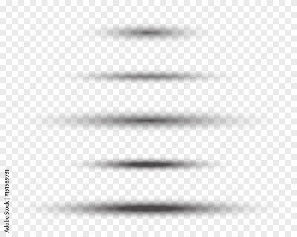 Fototapeta oval vector shadows