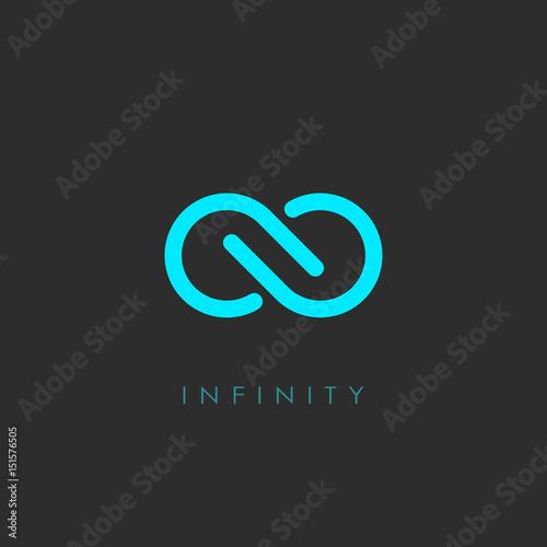 Cuadros en Lienzo Minimal infinity vector logo