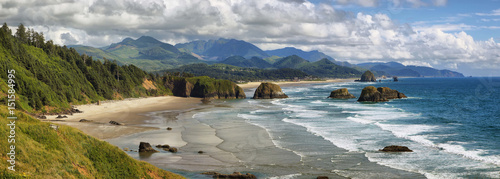 Aluminium Prints Coast Cannon Beach in Oregon