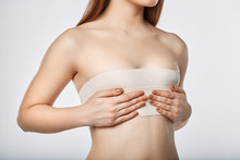 Woman Breast With Bandage Surg...