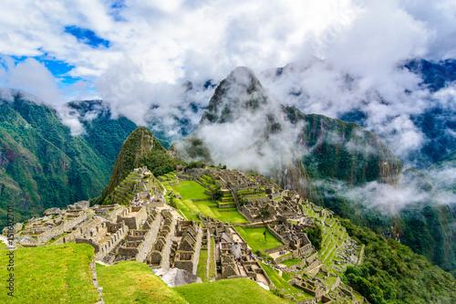 Ancient incas town of Machu Picchu. Peru