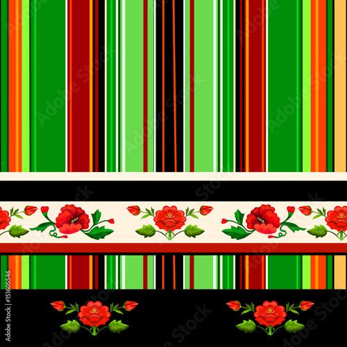 Tapety Ludowe  motyw-lowicki-z-haftem-kwiatowym