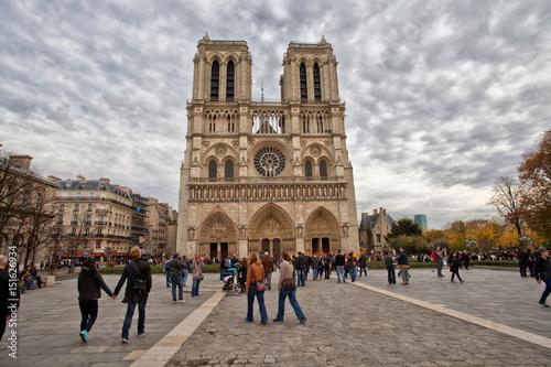 Plakat Notre Dame, Paryż, Francja