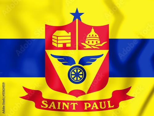 Photo  3D Flag of Saint Paul (Minnesota), USA.