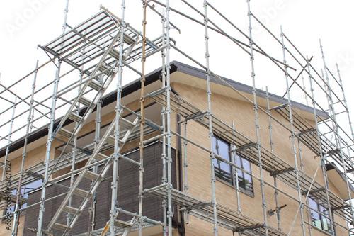 Fototapeta 住宅工事の足場