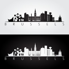 Brussel Skyline And Landmarks ...