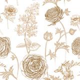 Wzór z wiosennych kwiatów. - 151723700