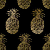 Seamless pattern with pineapples. - 151724792