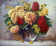 Oil Paintings Still Life, Flow...