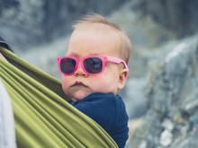 Cool Baby Wearing Sunglasses