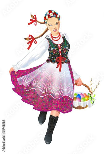 krakowiak-folk-dancer