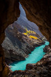 Zanskar river in autumn near Chilling in the Indian Himalaya. Ladakh, India