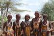 canvas print picture - Hamar Frauen aus dem Omo Valley in Äthiopien
