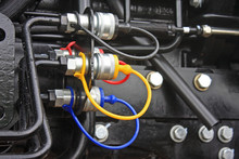 Hydraulic Service Connections On A Tractor