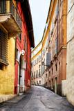 Fototapeta Uliczki - Narrow mountain town street in Verona