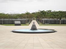 The Monument Of Okinawa Peace Memorial Park In Okinawa, Japan