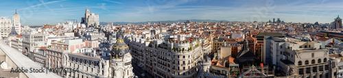 Foto op Aluminium Madrid Overview of the roofs of Madrid