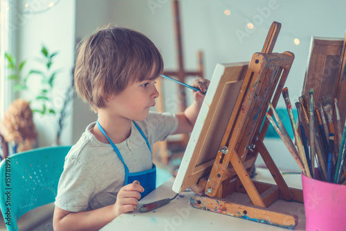 Child in studio