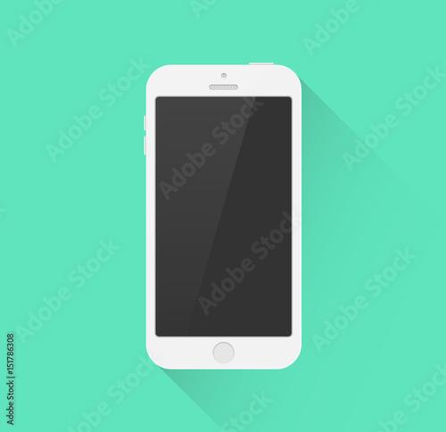 Smartphone Icon weiß Flat Design Vektor Grafik Illustration