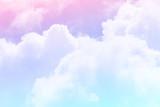 słońce i chmura tła w pastelowych kolorach - 151791733