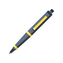 Pen Icon. Flat Design Graphic ...