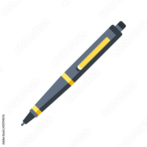 Leinwand Poster Pen icon. Flat design graphic illustration. Vector pen icon