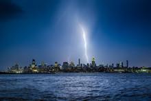 Lightning Striking New York Ci...