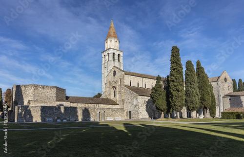 Photo Early christian basilica and baptistery in Aquileia, Friuli, Venezia Giulia