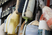 Buoys Hanging On A Cape Cod, M...