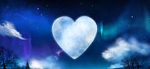 Beautiful Heart Shaped Moon In...