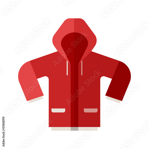 Photo Red casual anorak icon