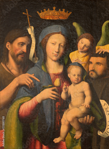 Fotografija TURIN, ITALY - MARCH 14, 2017: The painting of Madonna with St