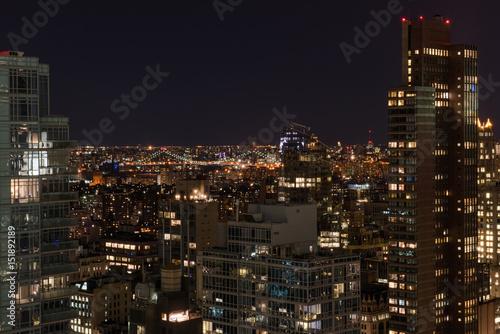 Aluminium Prints Los Angeles New York City Skyline