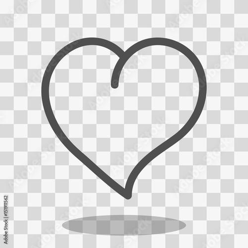 Fototapeta Heart Icon Vector obraz na płótnie