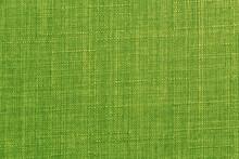 Green Fabric Texture As A Background, Closeup