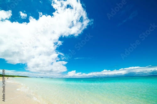 Photo Stands Landscapes リゾートの青い海
