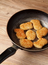 Chicken Nuggets With Sesame Se...