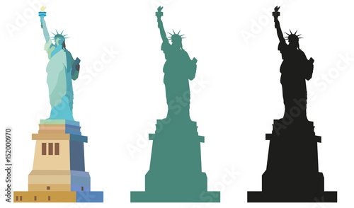 Statue of Liberty in color and black Fototapet