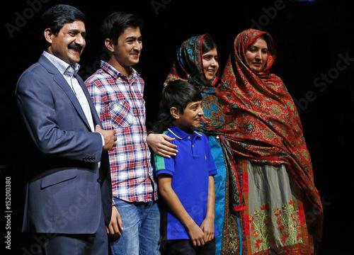 Pakistani schoolgirl Malala Yousafzai, the joint winner of
