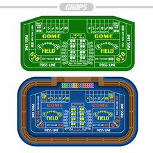 Vector Image Of Craps Table: G...