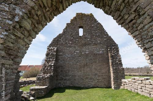 Foto op Aluminium Rudnes Ancient chapel ruin