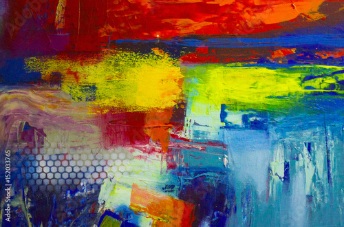 Photo  Abstract oil painting background