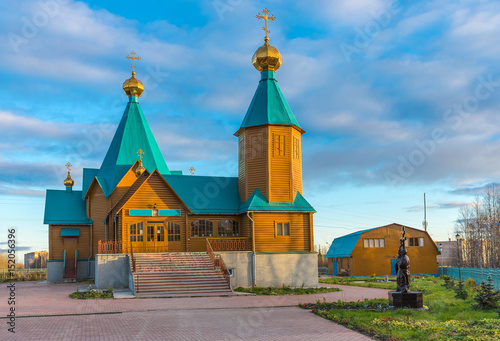 Wooden Russian Orthodox Church New Martyrs and Confessors Canvas Print