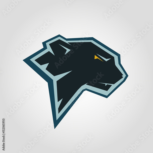 Black Panther Head Mockup Template Animal Symbol Logo Emblem Or