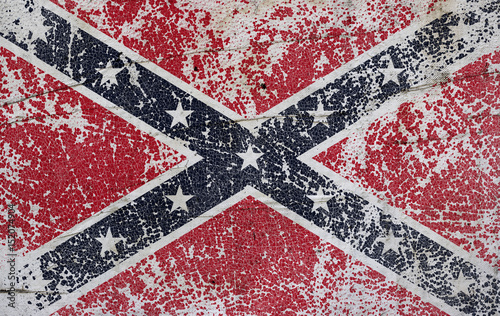 Grunge confederate flag on old paper background Wallpaper Mural